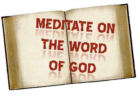 Image result for meditate on god's word